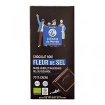 Artisans du Monde - Choc noir 70% Fleur Sel Bio 100g