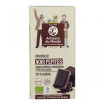 Artisans du Monde - Chocolat noir 73% pépites Bio 100g