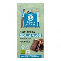 Artisans du Monde - Chocolat Croquant Amandes bio vegan 100g
