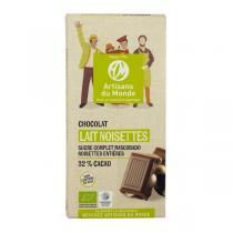 Artisans du Monde - Chocolat Noisettes 32% cacao Bio 100g