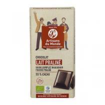 Artisans du Monde - Chocolat au lait Praliné Bio 100g