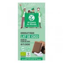 Artisans du Monde - Chocolat lait de coco bio vegan 48% 100g