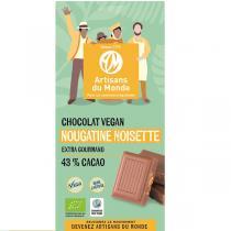 Artisans du Monde - Chocolat vegan Nougatine Noisettes bio 100g