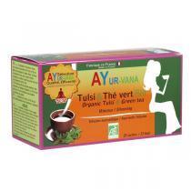 Ayur-Vana - Tulsi et Thé vert bio - 25 infusettes