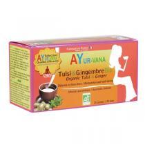 Ayur-Vana - Tulsi et Gingembre bio - 25 infusettes