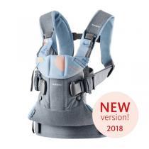 BabyBjörn - Porte-bébé One - Mixte coton - Bleu ardoise/Confettis