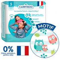 Carryboo - 21 Couches T5 (12-25kg) Dermo-Sensitives à Motifs
