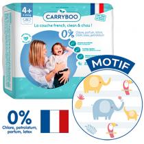 Carryboo - 22 Couches T4+ (9-20kg) Dermo-Sensitives à Motifs
