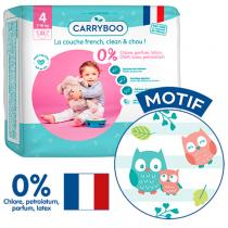 Carryboo - 23 Couches T4 (7-18kg) Dermo-Sensitives à Motifs