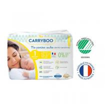 Carryboo - Lot 6x 27 Couches écologiques - Taille 1 - 2-5kg