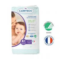 Carryboo - Lot Jumbo 6x46 Couches écologiques- Taille 4+ - 9-20kg