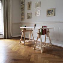 Europe et Nature - Bureau Gamy avec tréteaux en bois 150 cm