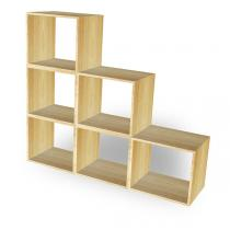 Europe et Nature - Ensemble de 6 cubes empilables en bois Kubus