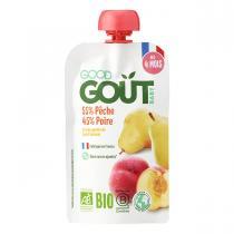 Good Gout - Gourde de Fruits dès 4 mois - Pêche Poire 120g