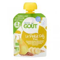 Good Gout - Gourde poire Le Petit Déj 70g - Dès 6 mois