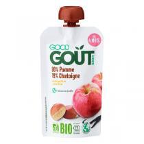 Good Gout - Gourde de Fruits dès 4 mois - Pomme Châtaigne 120g