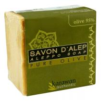 Karawan - Savon d'Alep pure olive - 95% huile d'olive - 200 g