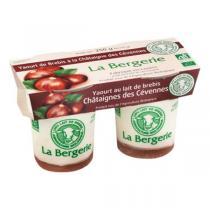 La Bergerie - Yaourt brebis châtaigne 2x125g
