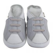 Lait et Miel - Chaussons cuir - Baskets grises - 0 à 24 mois