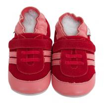 Lait et Miel - Chaussons cuir - Baskets rouges - 2-3 ans