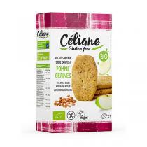 Céliane - Biscuits petit-déjeuner avoine pomme graines 140g