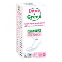 Love & Green - 30 Protèges-slips hypoallergéniques 0%