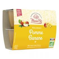 Mamie Bio - Pomme Banane bio - 4 x 100 g