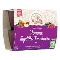Mamie Bio - Pomme Myrtille Framboise bio - 4 x 100 g
