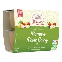 Mamie Bio - Pomme Poire Coing bio - 4 x 100 g
