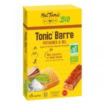 Meltonic - Tonic'Barre Pistaches et sel bio - 5 barres de 25 g