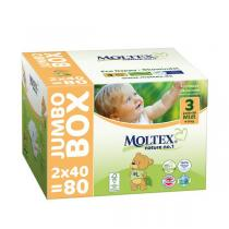 Moltex - 80 Couches T3 Eco-Midi Moltex 4-9kg - Jumbo Box