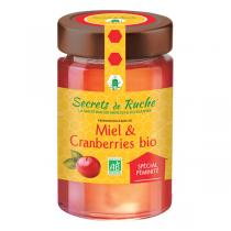 Secrets de Ruche - Miel et cranberries bio - 250 g