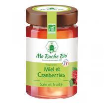 Ma Ruche Bio - Miel et Cranberries sain et fruité 250g