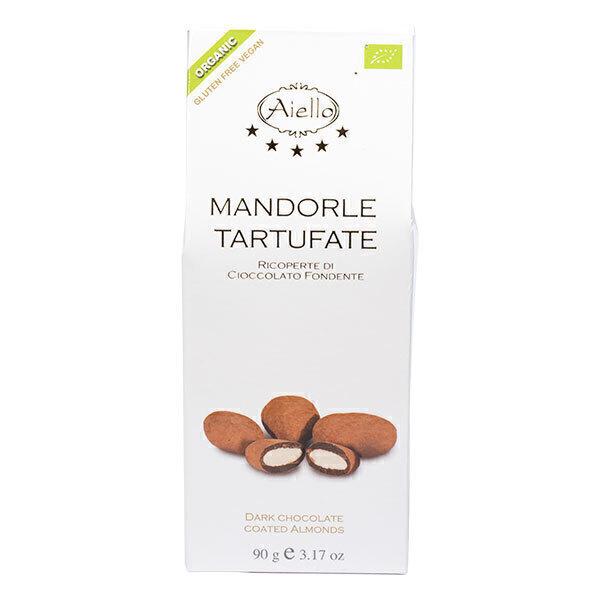 Aiello - Amandes enrobées chocolat noir 90g