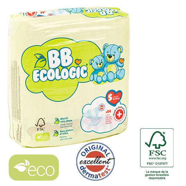 BB Ecologic - Lot 8x24 Couches jetables écologiques Midi - T5, 12+-25