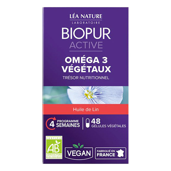 Biopur - Gélules végétales Oméga 3 Active x 48