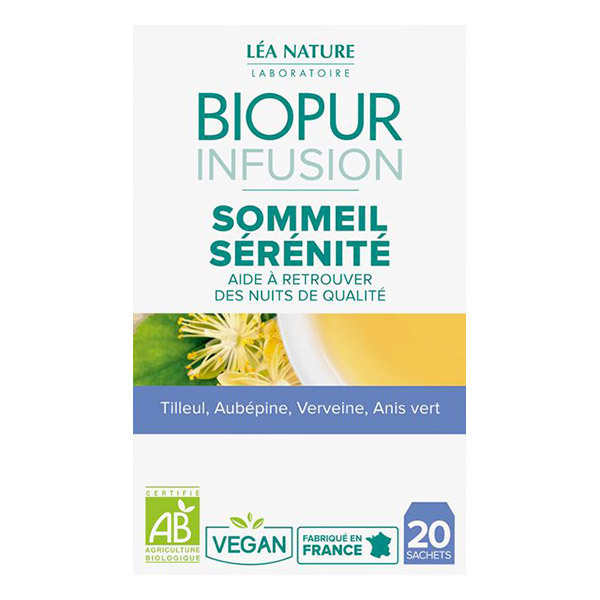 Biopur - Infusion Sommeil Détente 20 sachets