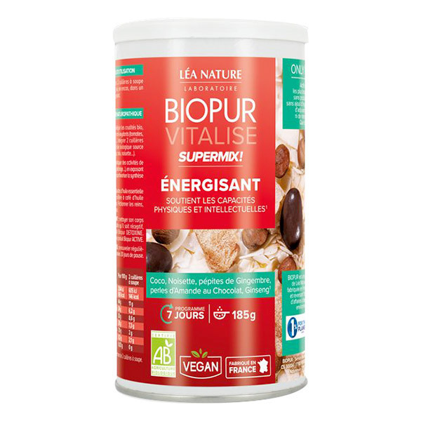 Biopur - Super Mix Energisant Gingembre Ginseng 185g
