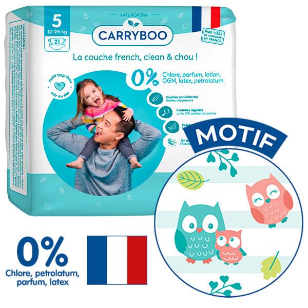 Carryboo - 6x21 Couches T5 (12-25kg) Dermo-Sensitives à Motifs