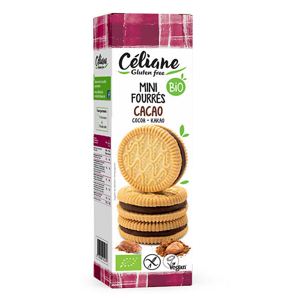 Céliane - Mini biscuits fourrés cacao 125g
