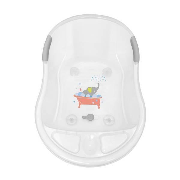 dBb Remond - Baignoire rigide avec vidange - Blanc éléphant - 20L - 0-3ans