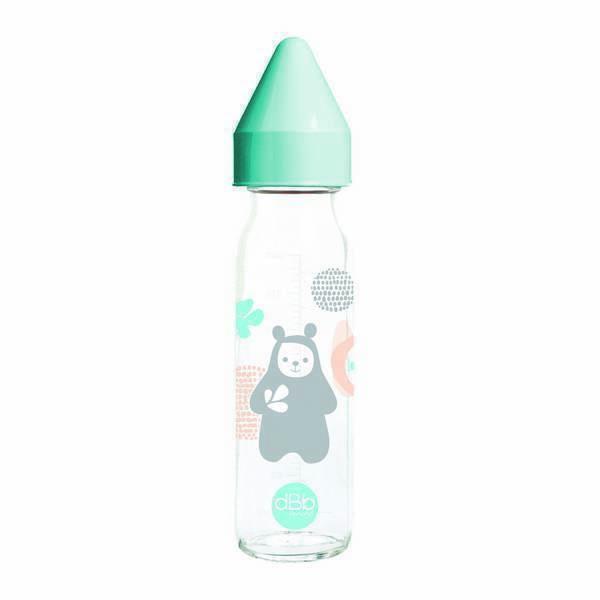 "dBb Remond - Biberon verre ""Régul'air"" Bao Bleu lagon - 240 ml - 0 à 4 mois"