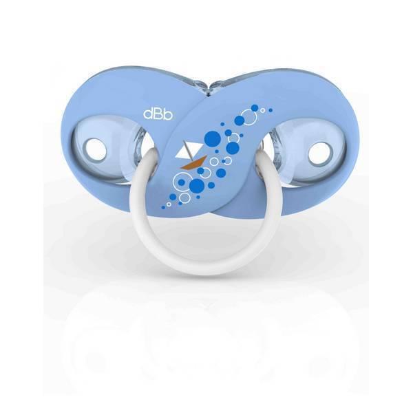 dBb Remond - Sucette silicone Infini Bleue - 2ème âge - 4 mois +
