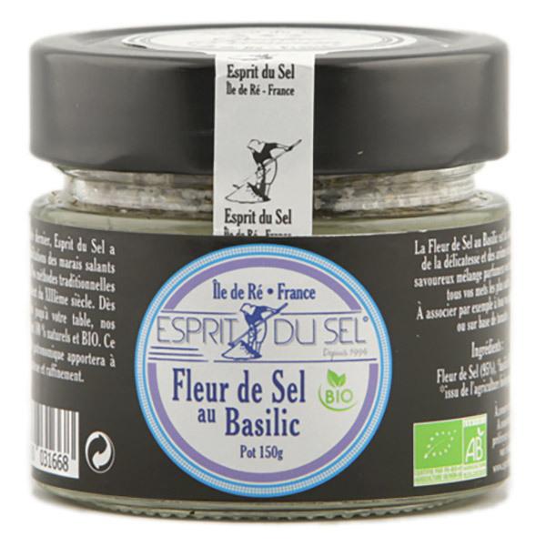 fleur de sel basilic bio pot 130 g esprit du sel acheter sur. Black Bedroom Furniture Sets. Home Design Ideas