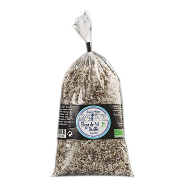 fleur de sel basilic bio sachet 200 g esprit du sel acheter sur. Black Bedroom Furniture Sets. Home Design Ideas