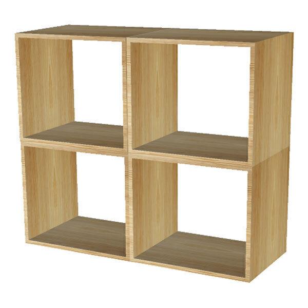 Europe et Nature - Ensemble de 4 cubes empilables en bois Kubus