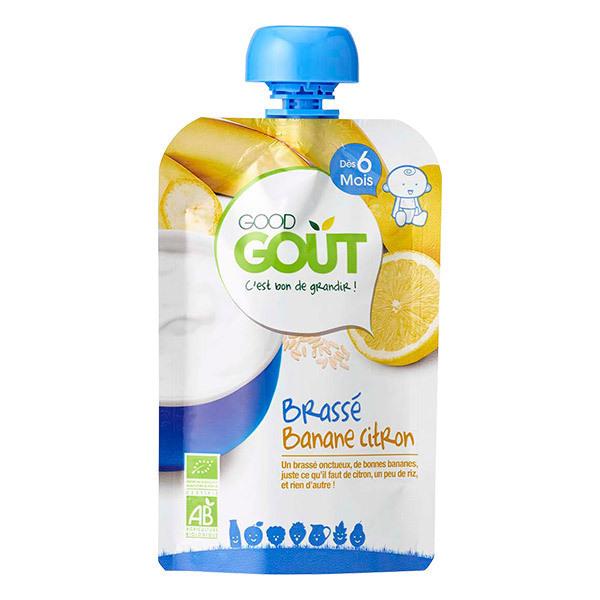 Good Gout - Gourde brassé banane citron 90g - Dès 6 mois