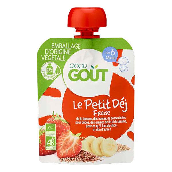 Good Gout - Gourde Le Petit Déj Fraise x 70g