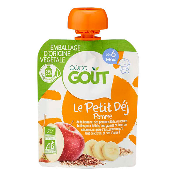 Good Gout - Gourde pomme Le Petit Déj 70g - Dès 6 mois