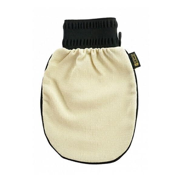 Karawan - Gant de gommage kessa - Grain fin - Beige liseret noir